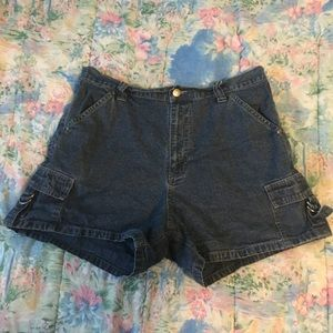 Pants - High-Waisted Jean Shorts